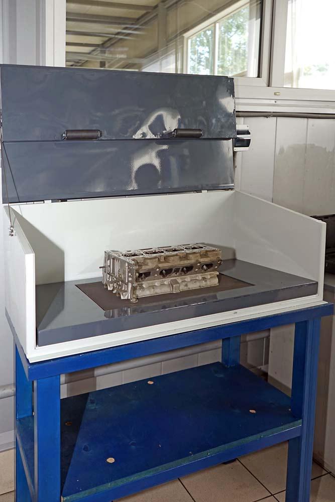 Ремонт головки блока цилиндров в ТЦ ВОЛИН. Печь для выпрессовки втулок