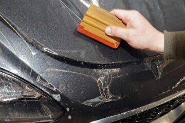 Защита кузова автомобиля PU-пленкой в ТЦ ВОЛИН. Оклейка