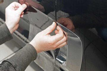Защита кузова автомобиля PU-пленкой в ТЦ ВОЛИН. Сушка и дополнительные работы