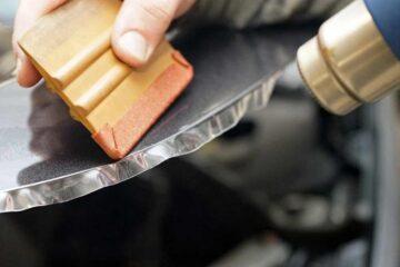 Защита кузова автомобиля PU-пленкой в ТЦ ВОЛИН. Обработка кромок