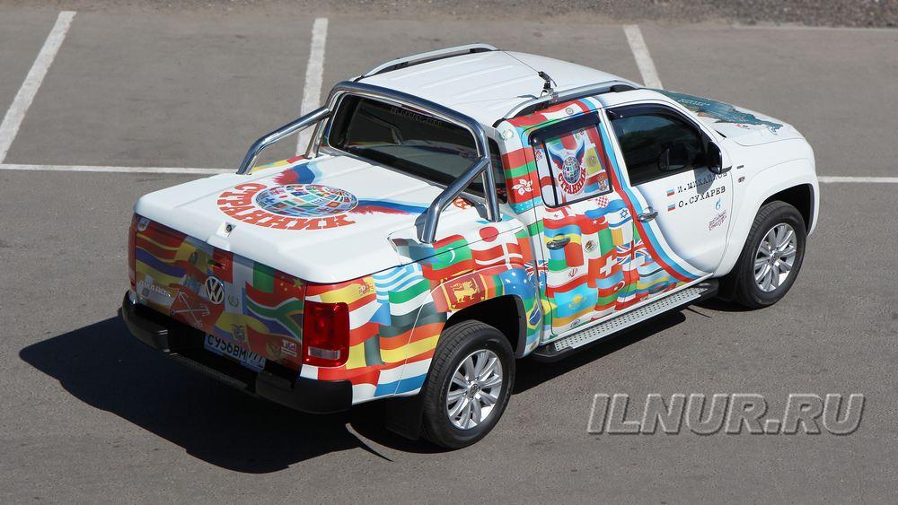 Винилография на Volkswagen Amarok в Техническом Центре «ВОЛИН»