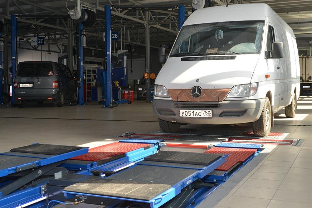 Диагностика на стенде для коммерческого транспорта в Техническом Центре «ВОЛИН»