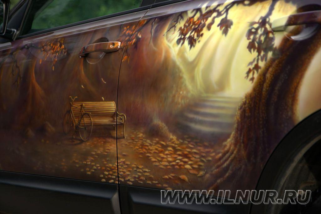 ТЦ «ВОЛИН». Аэрография на автомобилях. Работы Ильнура Мансурова