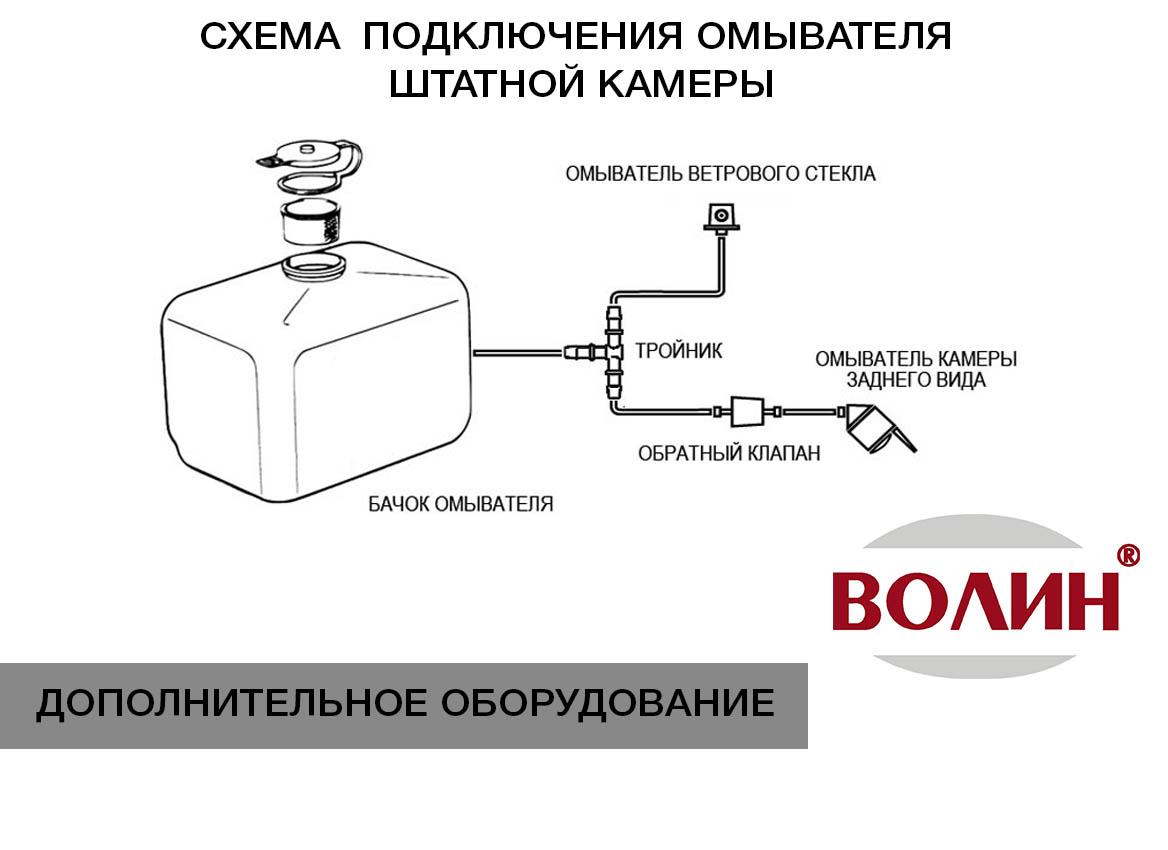 Установка омывателя камеры заднего вида в Техническом Центре «ВОЛИН»