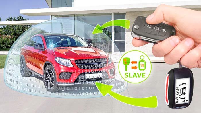 Управление охраной автомобиля штатным брелком с надежной дополнительной диалоговой авторизацией по брелку StarLine или метке
