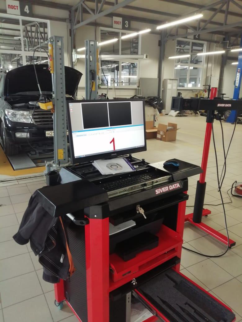 Измерение отклонений геометрии кузова автомобиля в Техническом Центре «ВОЛИН»